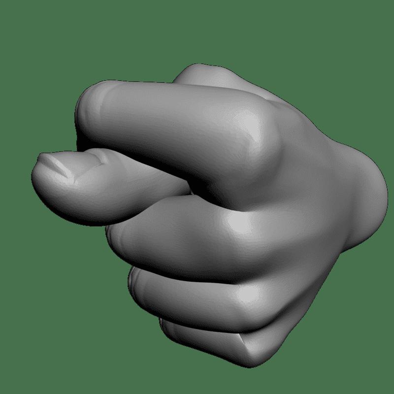 Рисунок фига из пальцев смешная