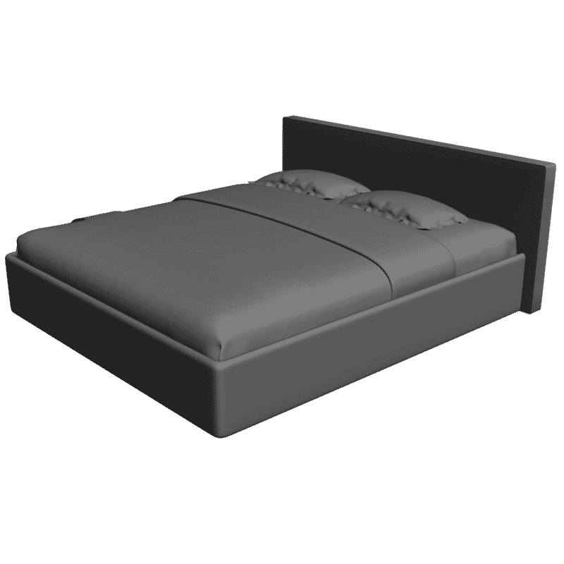 картинка Bed Cariba 180x200 - Dream Land M4-161 3D-STL.COM