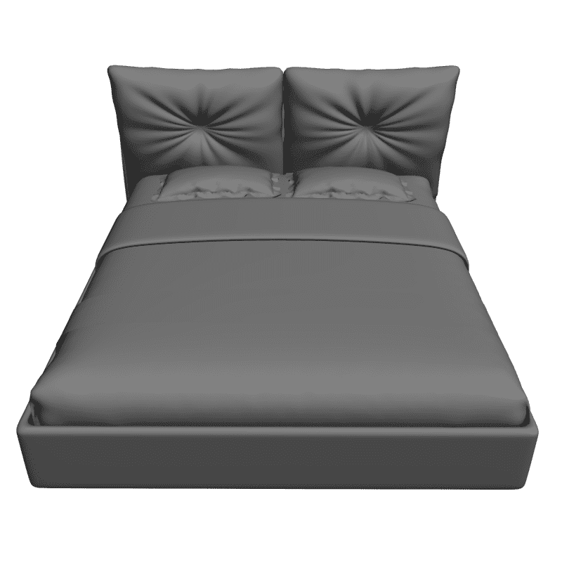 картинка Bed Akkra - Dream Land M4-150 3D-STL.COM